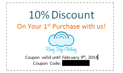 Rainy Days Clothing Coupon